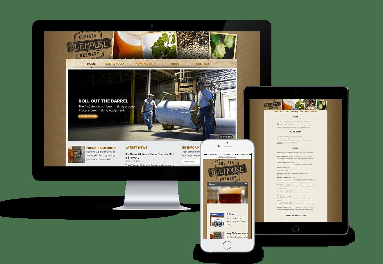 Chelsea Alehouse Website Design