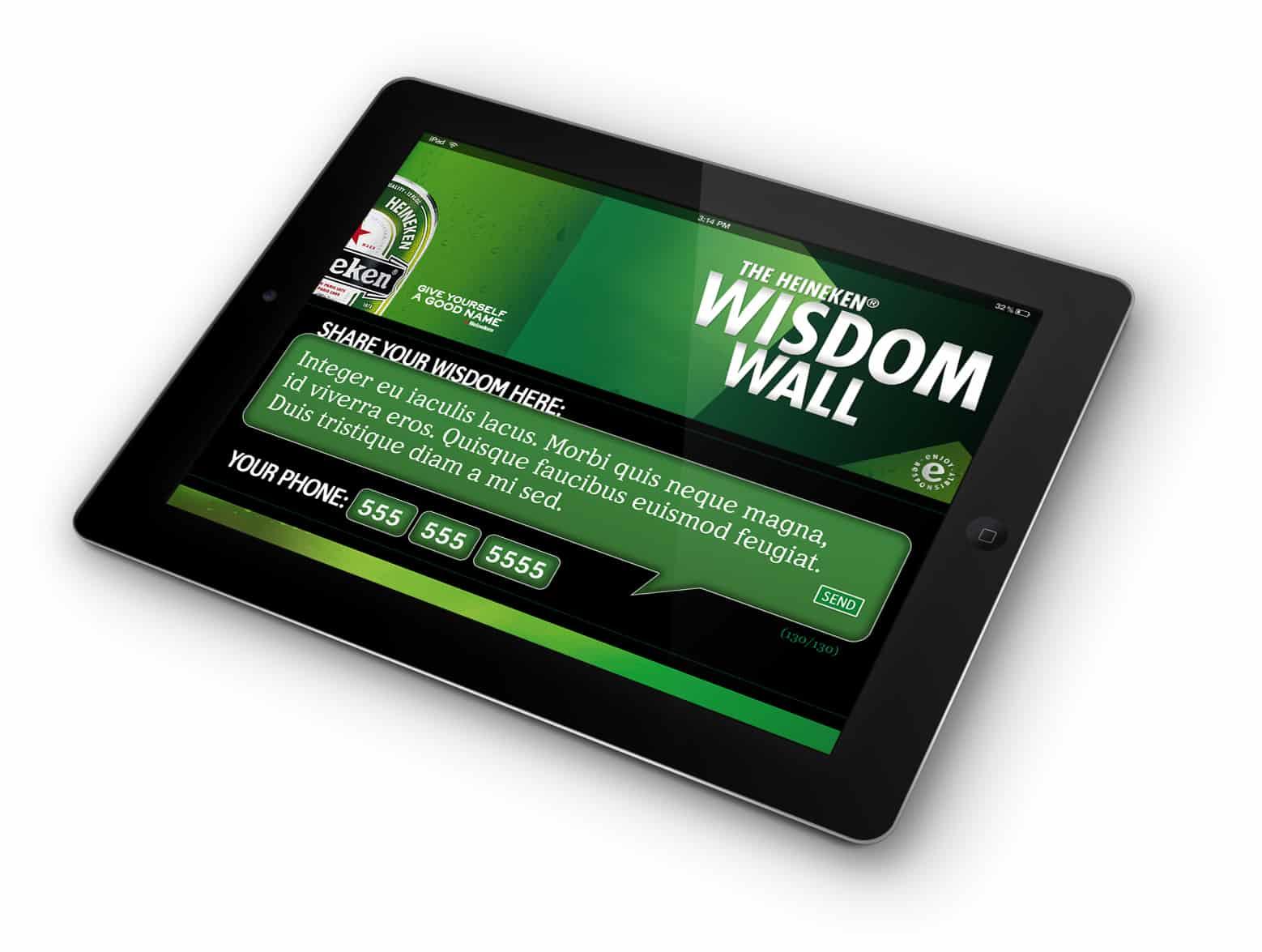 Heineken iPad app
