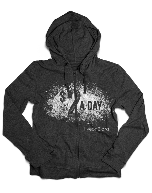 $2 A Day hoodie design