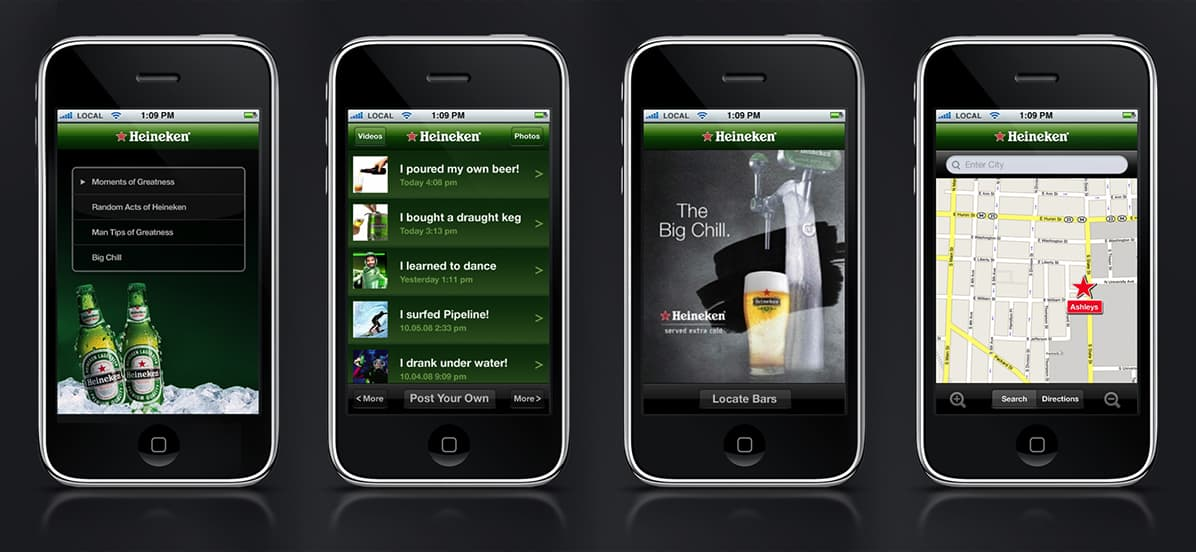 Heineken iOS Designs